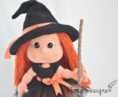 Mia Doll With Witch Costume Amigurumi Pattern