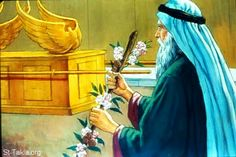 # 36 Aarons rod On the next day, when Moses went into the tent of the Testimony, look! Aaron's rod for the house of Leʹvi had budded and was bringing forth buds and blossoming flowers and bearing ripe almonds. Wild Bull, Mercy Seat, The Tabernacle, Biblical Art, Old Testament, Bring It On, Bible, Painting, Almonds