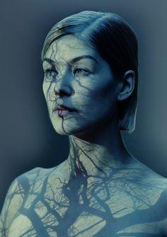 Rosamund Pike photographed by Nadav Kander (2014)