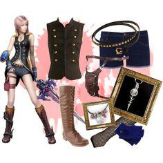 """Serah Farron Final Fantasy 13-2"" by cherubicwindigo on Polyvore"