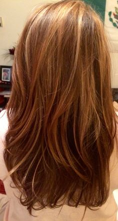 Brown to golden blonde balayage