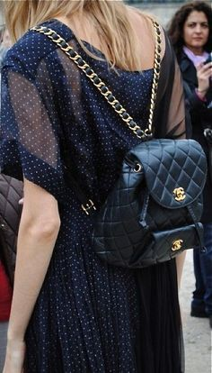 This Vintage Chanel Quilted Leather Backpack is such a fashion girl staple. Find out how to find a good vintage designer bag!
