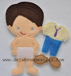 Wayne felt doll with outfit available at https://www.etsy.com/shop/SchoolhouseBoutique