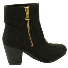 Zipper boots zwart suèdine