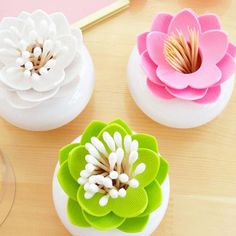 [Visit to Buy] 1Pc Lotus Cotton Bud Holder Swab Box QStick Toothpick Cosmetic Brush Storage Holder Case Box Room Decorate #Advertisement