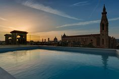 Swimming Pool Rooftop- Empireo Plaza Hotel Lucchesi, Florence.