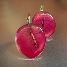 bougainvillea earrings, florizi.eu