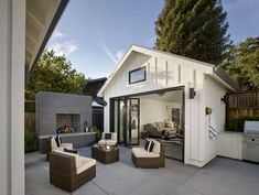 In law suite benefits and building costs you should know [furniture outdoor design, beautiful outdoor design, design, outdoor inspiration, home] Small Pool Houses, Backyard Guest Houses, Backyard Cottage, Backyard Pergola, Pergola Kits, Backyard Cabana, Backyard Office, Backyard House, Backyard Studio