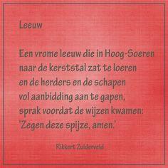Leeuw - (dierengedichten van Rikkert Zuiderveld) -