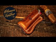 Making a Leather Lighter Case (Holder, Sleeve, Pouch) Enjoy! And have fun! Leather Cigarette Case, Leather Tutorial, Lighter Case, Bone Folder, Leather Projects, Leather Keychain, Leather Working, Leather Craft, Pouch
