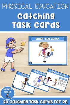 Primary Games, Physical Education Activities, Pe Lessons, Pe Teachers, Pe Games, Elementary Teacher, Task Cards, Teaching Resources, Online Courses