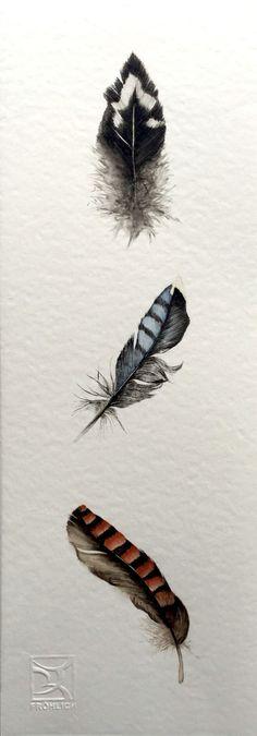 Watercolor Feathers LorenaFröhlich Mohr