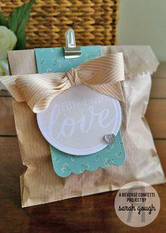 Reverse Confetti | Sarah Gough - Envie Wrap Confetti Cuts, Circles 'n Scallops Confetti Cuts, Roundabout Additions | Treat Container