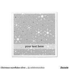 Sold. #Christmas #snowflakes #napkin #xmas #partysets Available in different products. Check more at www.zazzle.com/celebrationideas
