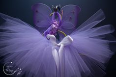 Fairy Lilac Newborn tutu set - Matching wings and Headband. Newborn Halloween…