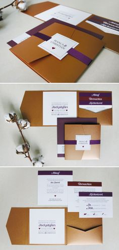 edle pocketfold-einladungskarte in kupfer | Momentini Blog