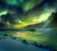 "Northern Lights...this reminds me of Balto. . . But it's just such a cool phenomenon that I feel my world travel bucket list would be incomplete without ""Seeing the Northern Lights"" jotted into it."