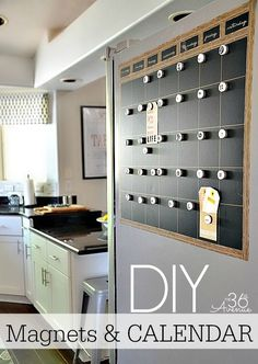 This magnets and calendar DIY project will provide you with a fun way to organize your life.