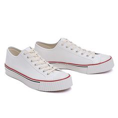 Low Cut Canvas Sneakers Off White