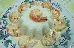 Γαρίδες με ούζο και κρέμα γάλακτος