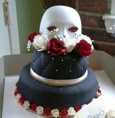 Phantom of the opera themed cake my friend's sister made for her bridal shower Opera Cake, Phantom Of The Opera, Cupcake Cakes, Cupcakes, Themed Cakes, Sweet 16, Bridal Shower, Sweet Treats, Birthday Cake