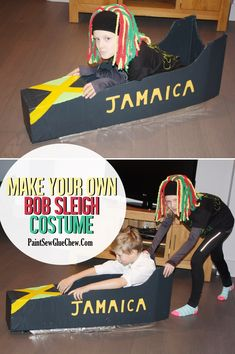 Make Your Own Bobsleigh Costume Instructions. Great for a winter olympics fancy dress party