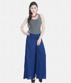 69dd97ca58f Danger Women's on Shopping (Women's Clothing) · Solid Blue Front Buttoned  Palazzo Rs. 419 – Zovi
