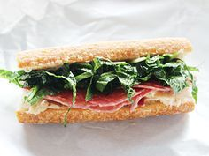 """Easy lunch: Make-Ahead Salami Sub with White Bean Spread and """"Kale-Slaw"""" #recipe"""