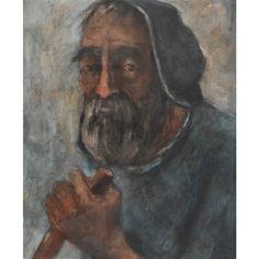 Bildnis eines alten Mannes by Walter Krebs