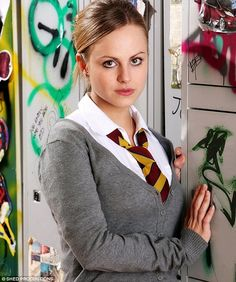 Tina O'Brian plays Sarah-Louise Platt School Uniform Girls, Girls Uniforms, School Outfits, Waterloo Road, Helen Flanagan, Hot Teens, Coronation Street, New Girl, Pop Culture