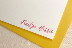 Letterpress Calligraphy Style Personalized by DinglewoodDesign