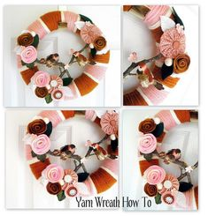 Crochet Wreaths Tutorials | yarn wreath tutorial from somerset home | make handmade, crochet ...