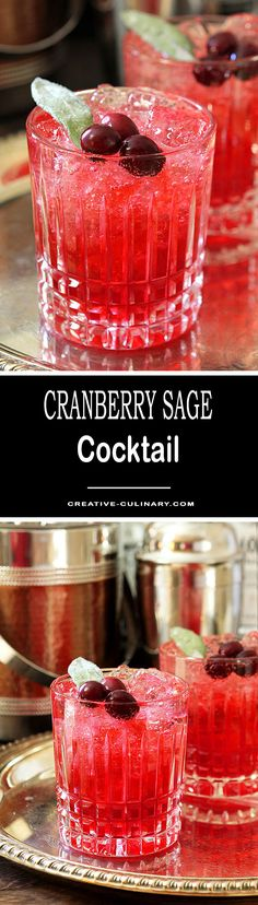 This Cranberry Sage Cocktail is re-created from Seasons, one of my favorite restaurants. It was a leap of faith and I'm so glad I tried it; it's one of my favorite holiday libations!