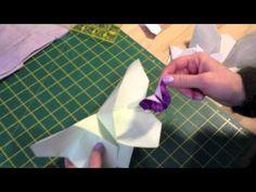 ▶ Video tutorial DIY (IT): origami di stoffa a forma di farfalla - fabric origami butterfly [borse di gaya]