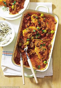 I like this dish for casual entertaining: you can make it ahead and finish it in the oven before serving.