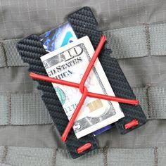 EOS CNC Machined Titanium Black Cerakote Money Clip Ultra Slim Wallet