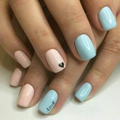 22 Ideas nails shellac blue pink for 2019 – Ongles Center Cute Acrylic Nails, Pastel Nails, Black And Blue Nails, Pastel Blue Nails, Acrylic Art, Pink Black, Nail Designs Spring, Cute Nail Designs, Nagellack Trends