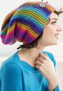 Rainbow ridges hat - lion brand landscapes - rainbow hat - striped hat - DIY hat - how to knit a hat - free knit pattern Loom Knitting, Knitting Patterns Free, Knit Patterns, Free Knitting, Baby Knitting, Knitting Needles, Free Pattern, Crochet Beanie, Knitted Hats