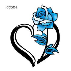 Image result for blue rose tattoo