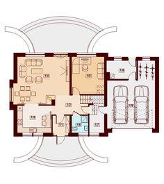 DOM.PL™ - Projekt domu DN KARMELITA GOLD 2M CE - DOM PC1-56 - gotowy koszt budowy Modernism, Planer, House Plans, Floor Plans, House Design, How To Plan, Home Decor, Irish, Thailand