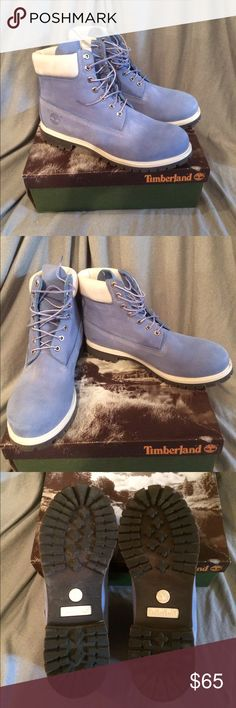 Awesome blue men's timberland boots Cornflower blue 6 inch classic timberland boots size 12. In great condition ( tiny surface scratches see pic can only see close up) Great color (limited edition color ) Timberland Shoes Boots