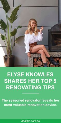 Elyse Knowles is already a seasoned renovator, having transformed her first property and winning The Block with her partner Josh Barker in 2017. Sitting down with Domain, Knowles shared the most valuable renovating advice she's learned along the way.