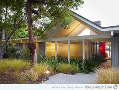 15 Modern Front Yard Landscape Ideas - this one has a low light...can do a series of them instead of whats out there now