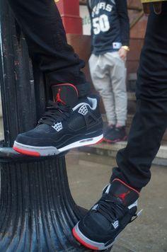 Nike Air Jordan IV Retro 'Bred' #sneakers