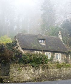 Bradford on Avon, England - charming cottage with Gothic arch windows