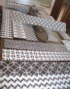 idea, patterns, floors, stair risers, morrocan stencil, moroccan pattern, floor stencil, design studios, stencils