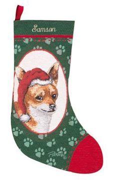 Linda Picken Chihuahua Tapestry Christmas Stocking ~ Artist