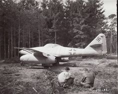 German Me 262 jet, flown into American lines near Frankfurt by defecting Luftwaffe pilot.