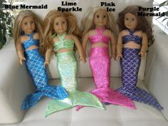 American Girl Doll Mermaid Tail. Mermaid by CoolTailzAndMore