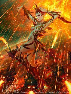 Furoze, Goddess of Flame [EX], Mario Wibisono on ArtStation at https://www.artstation.com/artwork/4d4zk